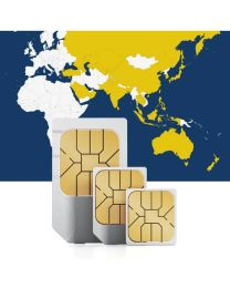 SIM card for use in 36 Asian countries with fast mobile internet