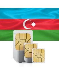Azerbaijani flag data sim card for use in Azerbaijan