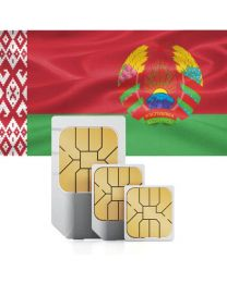 Belorusian flag data sim card for Belarus
