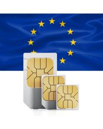 European flag, sim card used in Europe, European Union and Switzerland