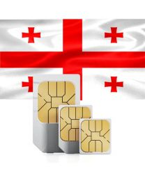 Georgian flag data sim card for Georgia