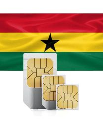 Ghanaian flag data sim card for Ghana