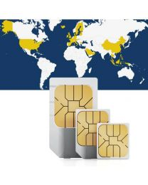 Global sim card for global use in 27 countries