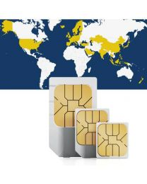 Global, sim card for global use in 46 countries