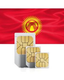 Kyrgyzstan flag data sim card for use in Kyrgyzstan