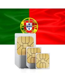 Portuguese national flag sim card for use in Portugal
