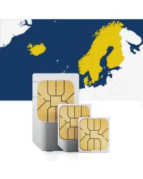 Data SIM card to use in Scandinavia with fast mobile internet