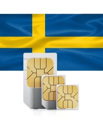 Swedish flag sim card for use in Sweden