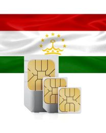 Tajikistan's flag, data sim card for use in Tajikistan