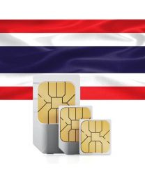 Thailand flag, data sim card for use in Thailand