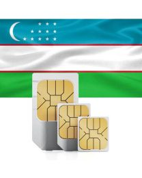 Uzbekistan flag data sim card for use in Uzbekistan
