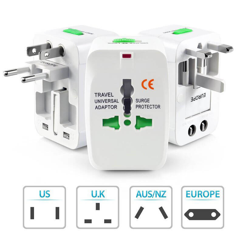 Travel Adapter Front View