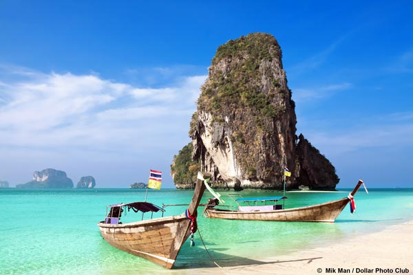 In Thailand you can enjoy the sun and many beaches.
